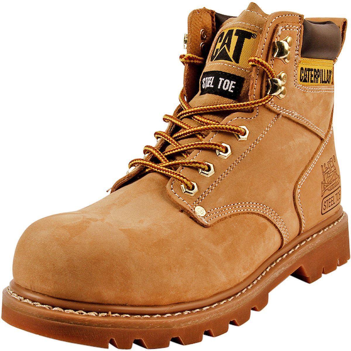 c50bcd39eac Caterpillar - Men's Second Shift Steel Toe Work Boots - Honey Nubuck ...