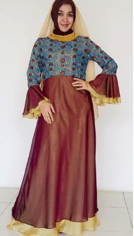 Model Baju Brokat Kombinasi Satin Untuk Orang Gemuk