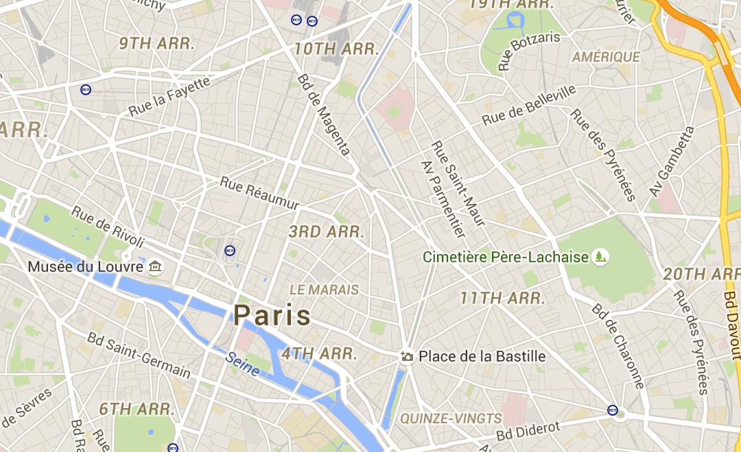 Paris Map Neighborhoods Districts Arrondissements Hotel Map - Hotels map in paris
