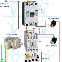 Contactor Wiring Guide For 3 Phase Motor With Circuit Breaker ... on 3 phase motor wiring diagrams, electric motor switch wiring diagram, star delta starter wiring diagram, motor starter wiring diagram,