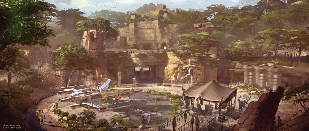 Here's a new look at a rendering of what the worlds will look like.