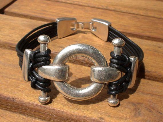 Pulsera, pulseras para hombre, pulsera de plata para hombres, pulseras populares para hombres, joyería para hombres popular, diseñador de joyas de cuero