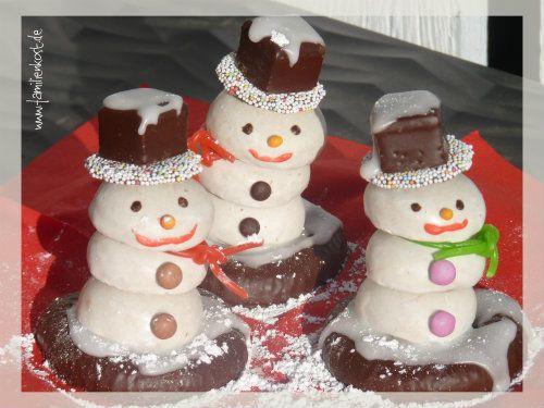 Schneemänner Aus Pfeffernüssen Zum Verschenken