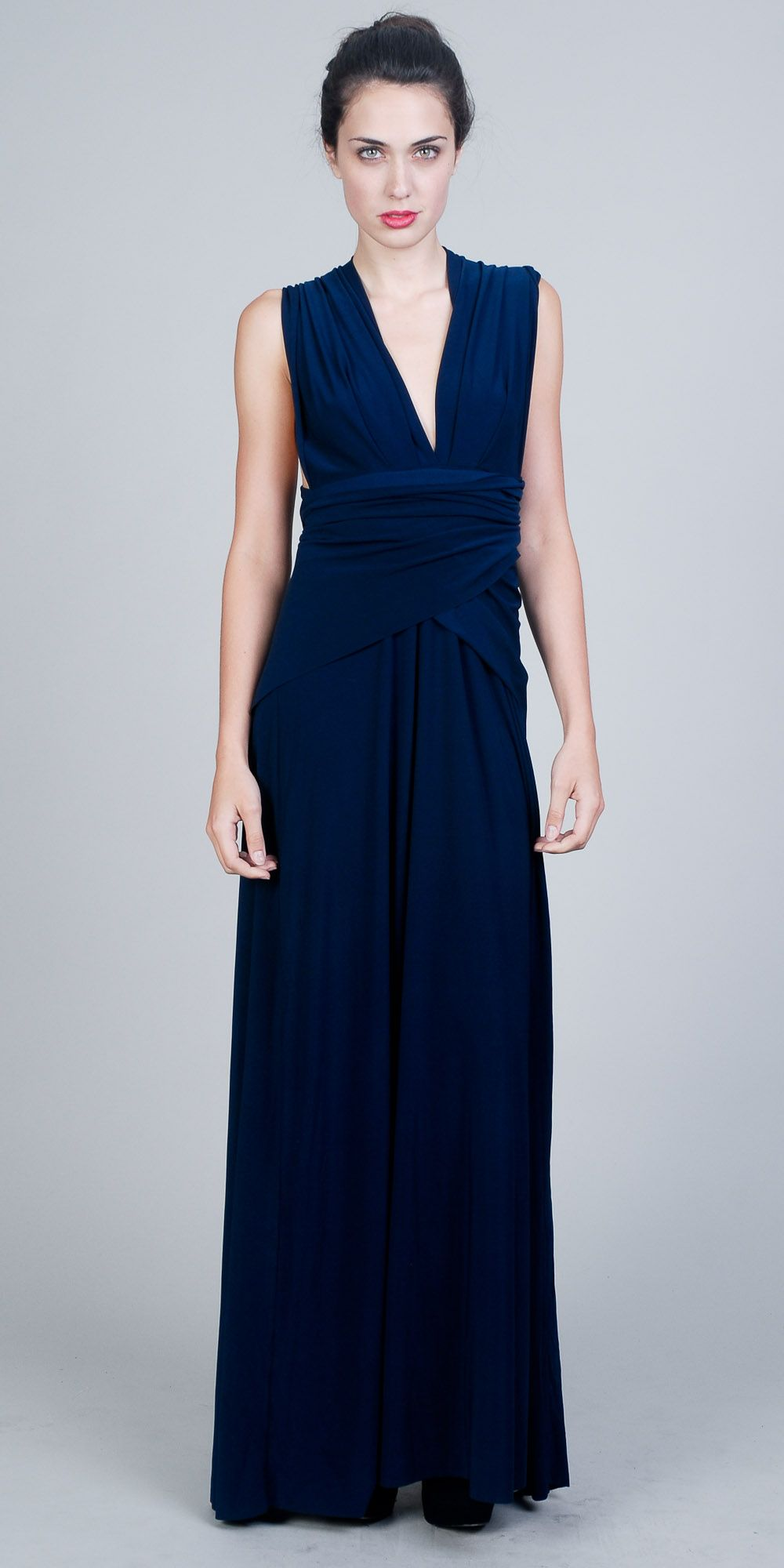 9f28e82284 navy maxi dress from edressme love the back on this one Navy Dresses   2dayslook