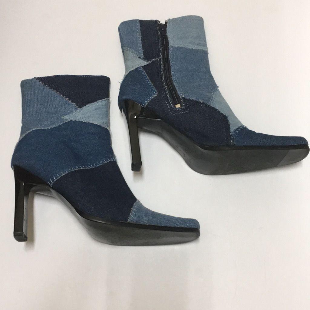 Paprika Shoes Paprika Denim Patchwork Jean Boots Color