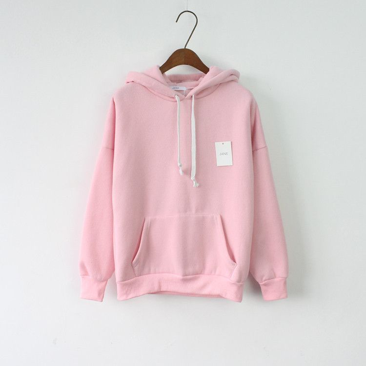 2017 Women Hoodies Sweatshirt Long Sleeve Pink Casual Harajuku ...
