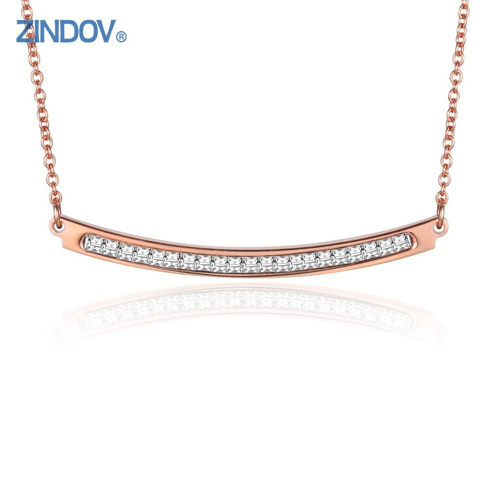 Zindov 316l stainless steel trendy necklaces pendants for women top zindov 316l stainless steel trendy necklaces pendants for women top square cz crystal inlay rose gold aloadofball Image collections