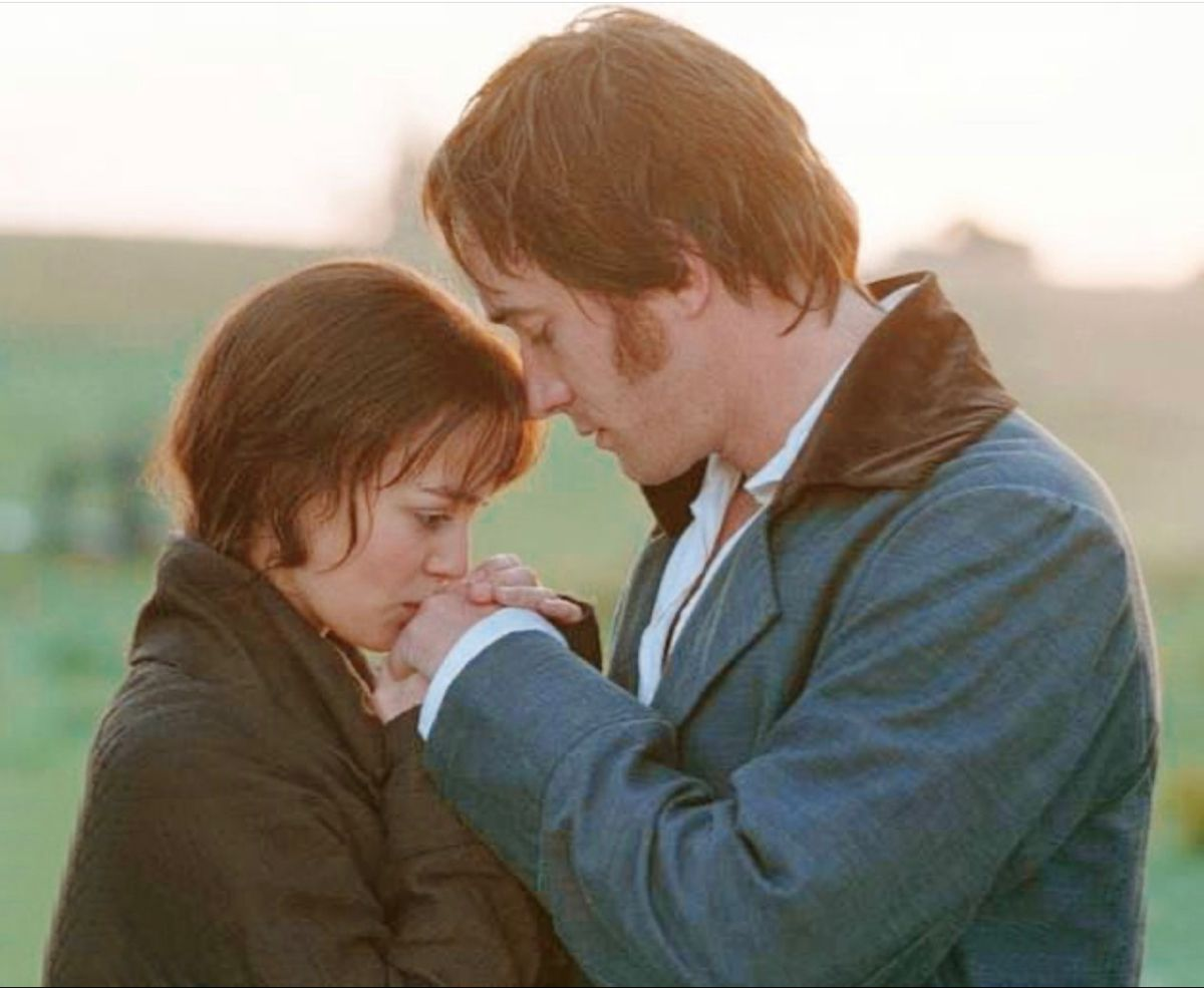The Tow Lovers Come Together At Last Pride And Prejudice Romantic Films Pride And Prejudice 2005