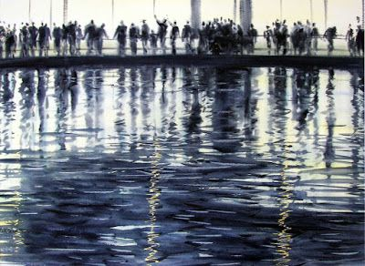 Konstantin Sterkhov. Fun By Water, Burj Halifa, 2013 - Art Of Watercolor