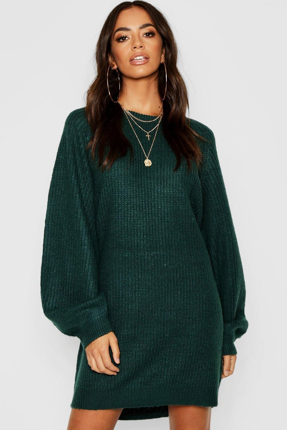 856c2ffbc7e5 Click here to find out about the Crew Neck Fisherman Rib Jumper Dress from  Boohoo