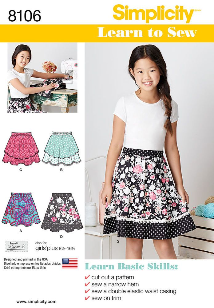 Learn To Sew Skirts For Girls And Girls Plus Tianas Patterns