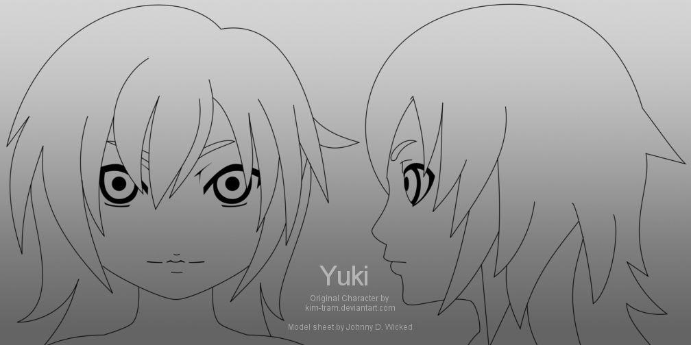 Yuki Head Model Template 01 by johnnydwicked Character Design - character model template