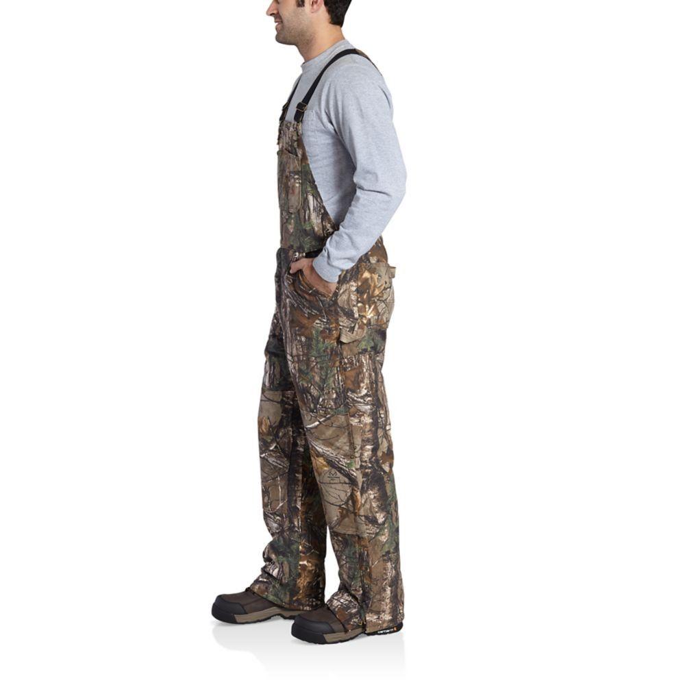men s carhartt quilt lined camo bib overalls on walls camo coveralls insulated id=35915