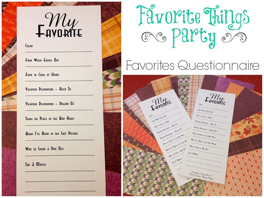 How to host a favorite things party - love these ideas.. and ...