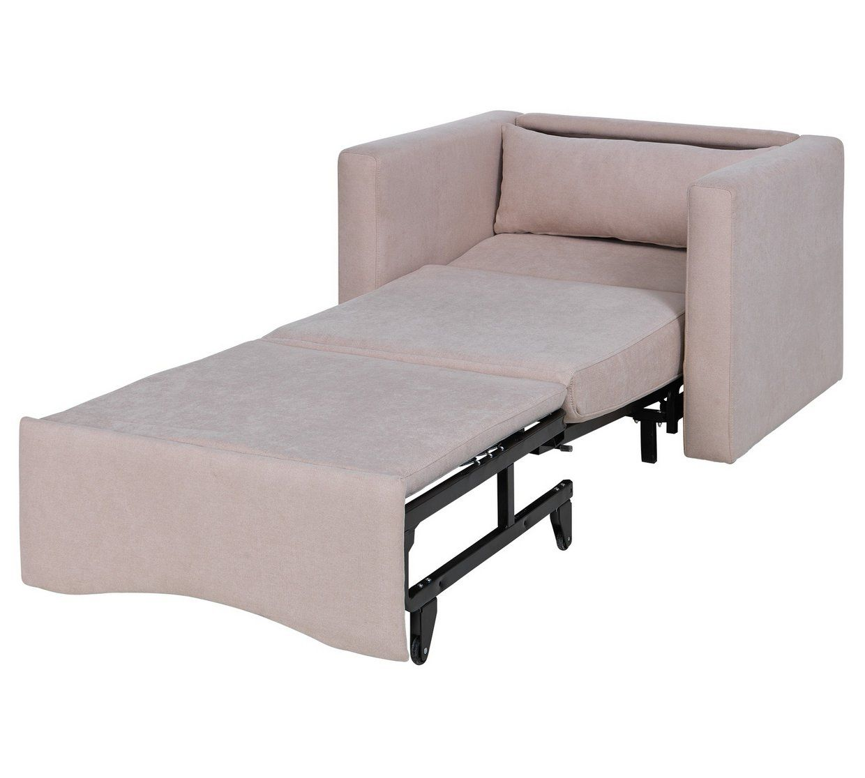fold out chair bed argos dolls high toys r us buy home reagan fabric chairbed natural sofa beds chairbeds and futons