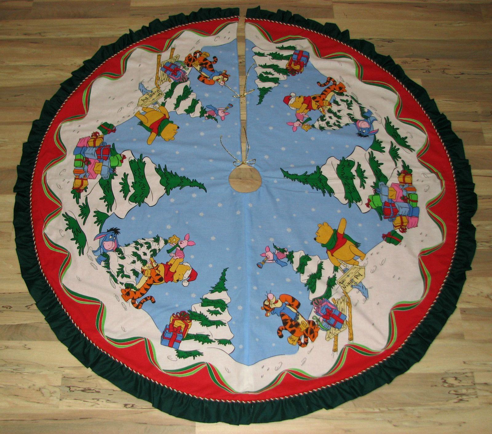 winnie the pooh piglet tigger eeyore christmas tree skirt - Disney Christmas Tree Skirt