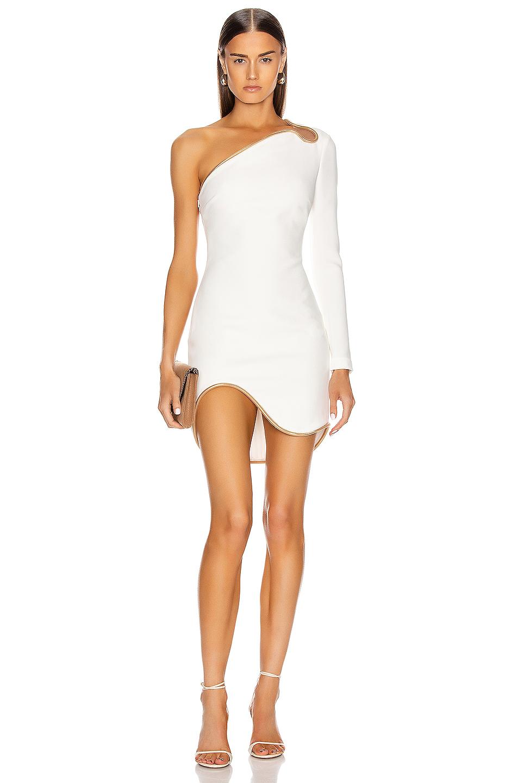 Stella Mccartney Dianna One Shoulder Mini Dress In White Fwrd Mini Dress One Shoulder White Dress White Mini Dress [ 1440 x 953 Pixel ]
