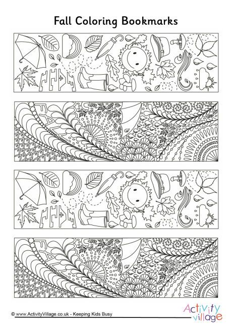Fall Doodle Colouring Bookmarks Coloring Bookmarks Coloring Bookmarks Free Colouring Pages
