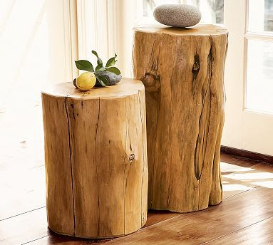 Pottery Barnu0027s Tree Stump Tables