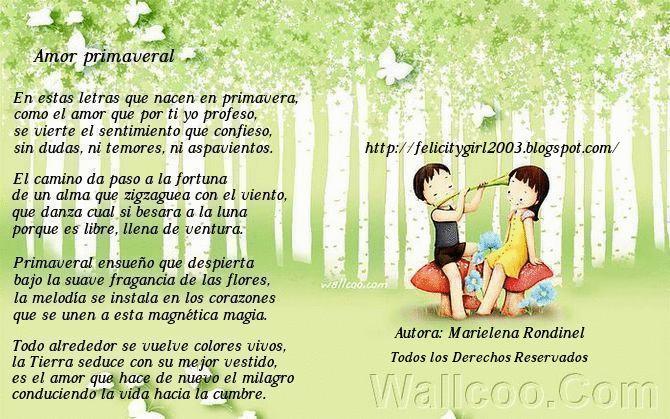 Amor primaveral poema poes a para ni os poetry for for Buscador de poemas