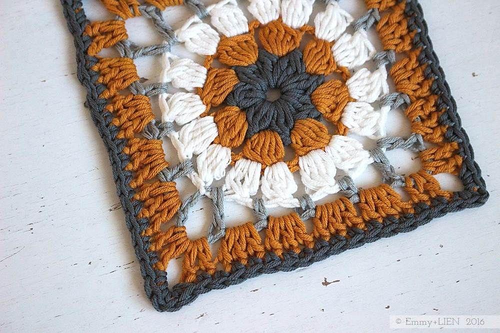 Dally Dahlia cuadrado de la abuelita | patrón de crochet libre y ...