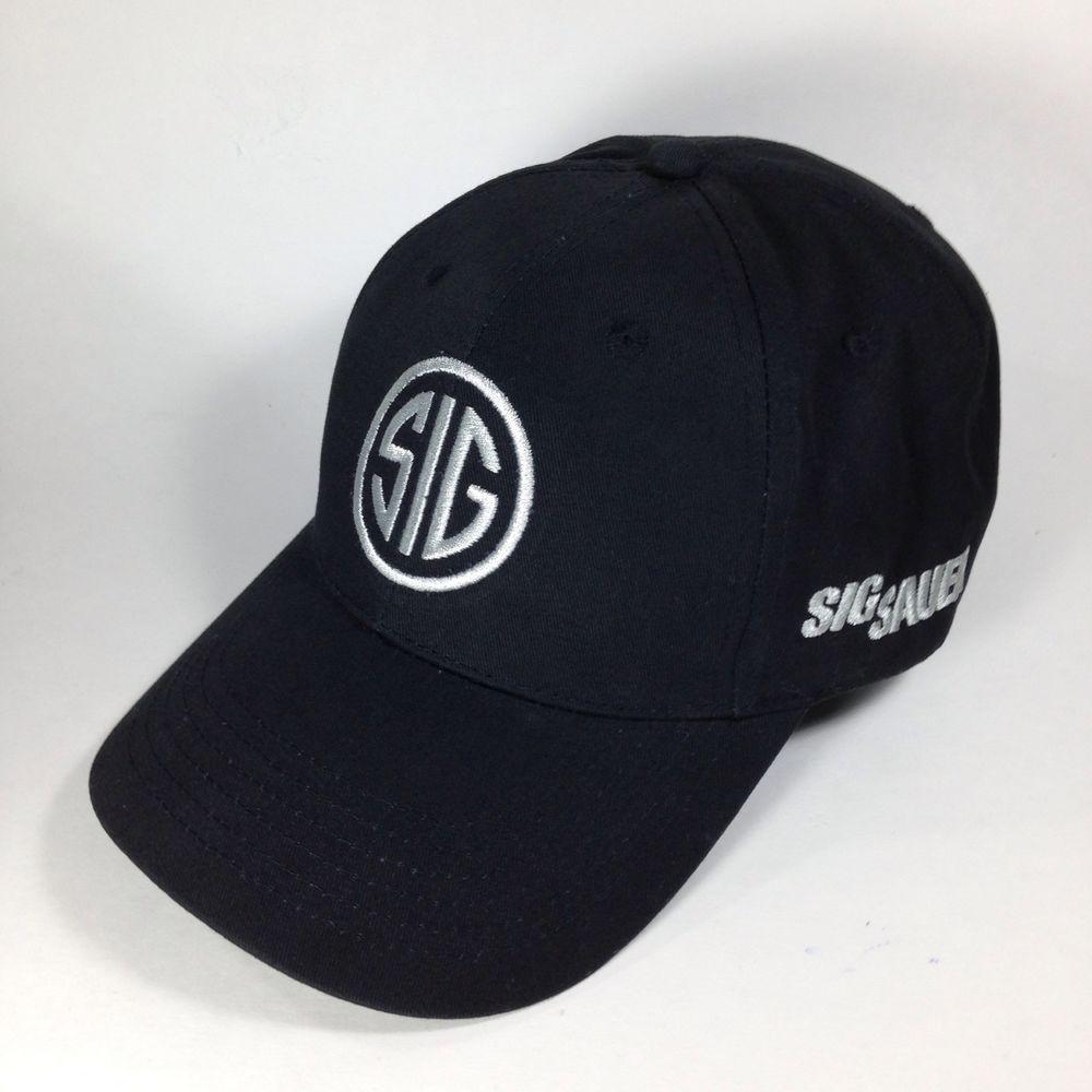 485a435728afa Sig Sauer Baseball Hat Cap Black Silver Handgun Pistol Embroidered Logo   Stran  BaseballCap