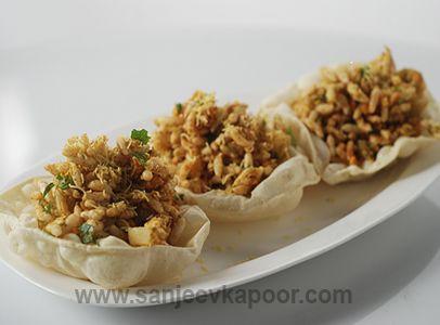 Papad bhel love pinterest sanjeev kapoor snacks and finger foods how to make papad bhel recipe by masterchef sanjeev kapoor forumfinder Gallery
