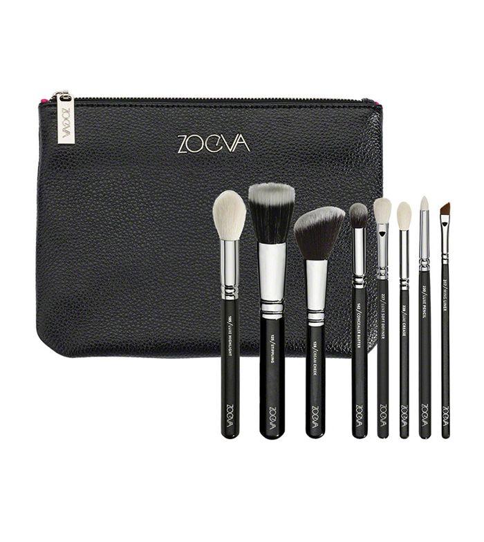 Zoeva - Set Classic Brush - 8 brochas y neceser grande Clutch
