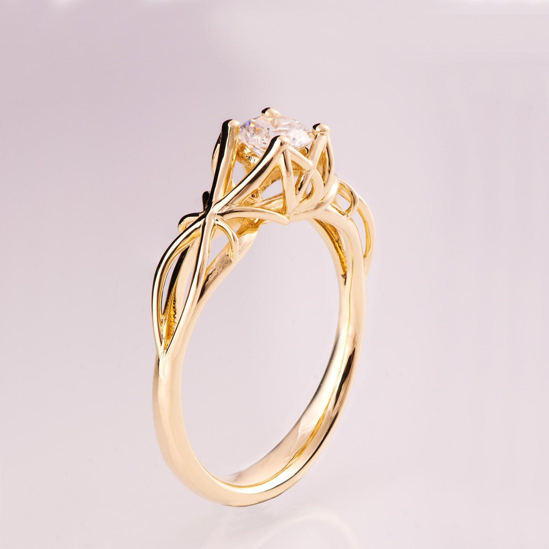 Knot Engagement Ring, Diamond engagement ring, Celtic ring ...
