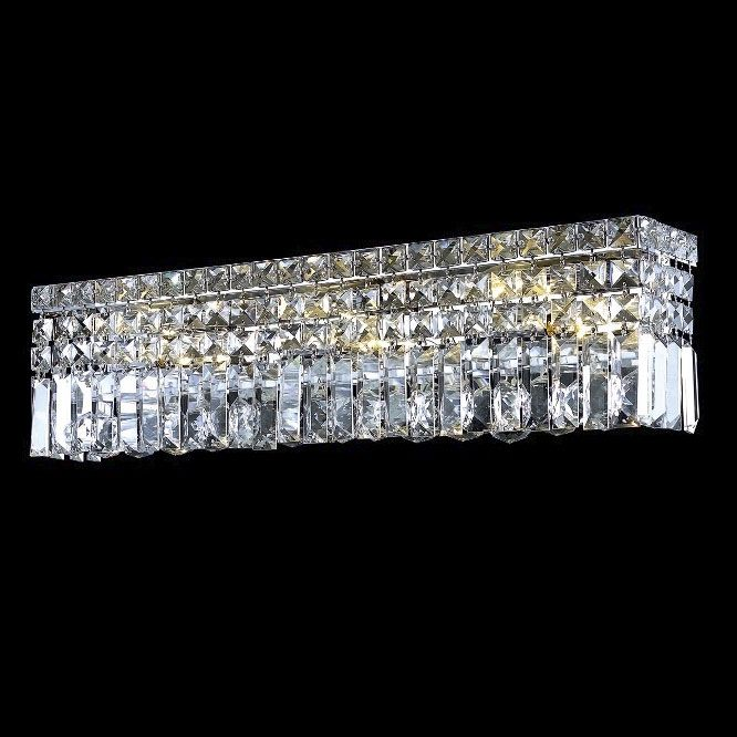 Elegant WCRC Maxim Small Crystal Vanity Light Fixture - Bathroom vanity lights for sale