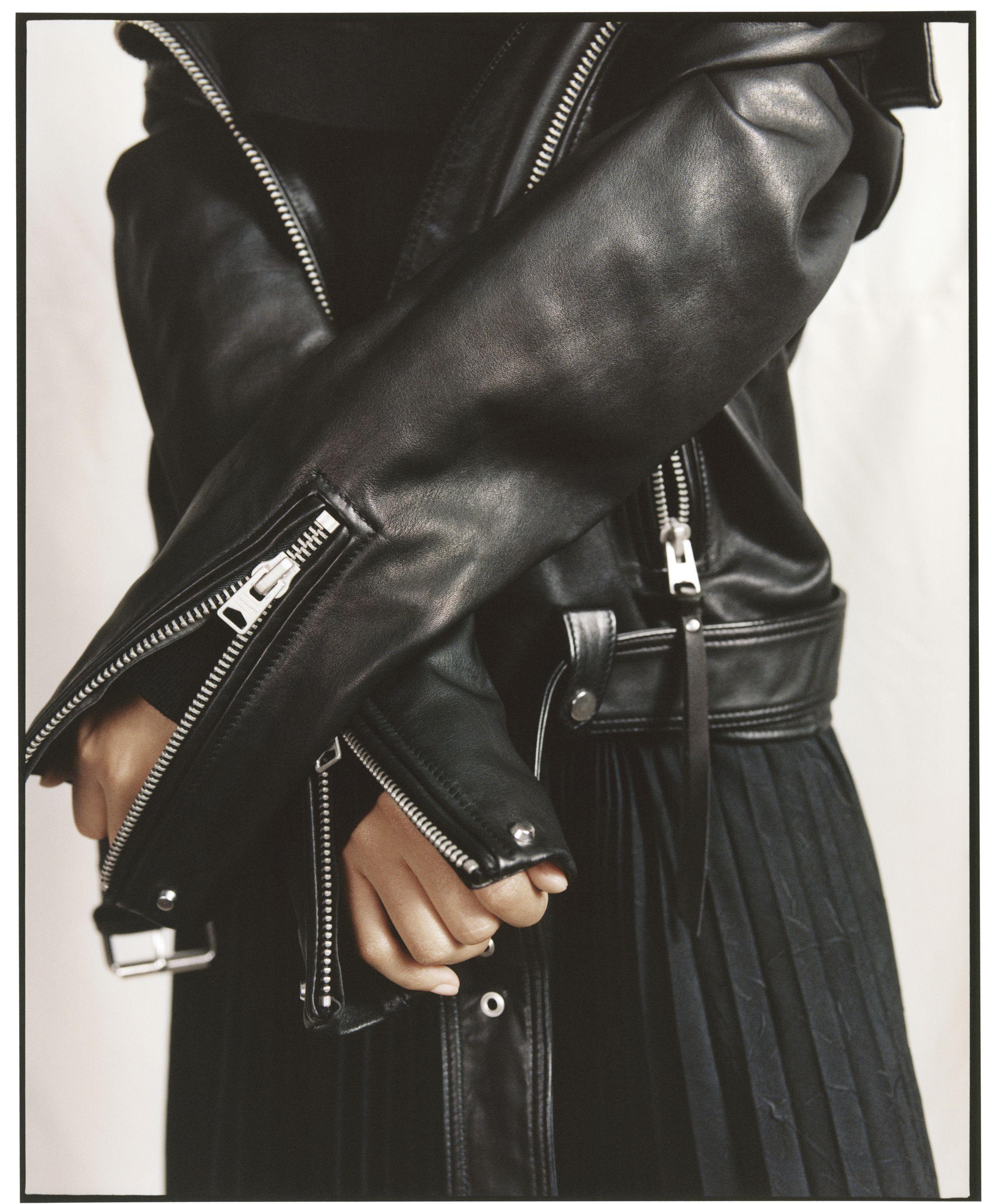 Allsaints Luna Biker Jacket Leather Jacket Style Leather Jackets Women Leather Jacket [ 3059 x 2500 Pixel ]