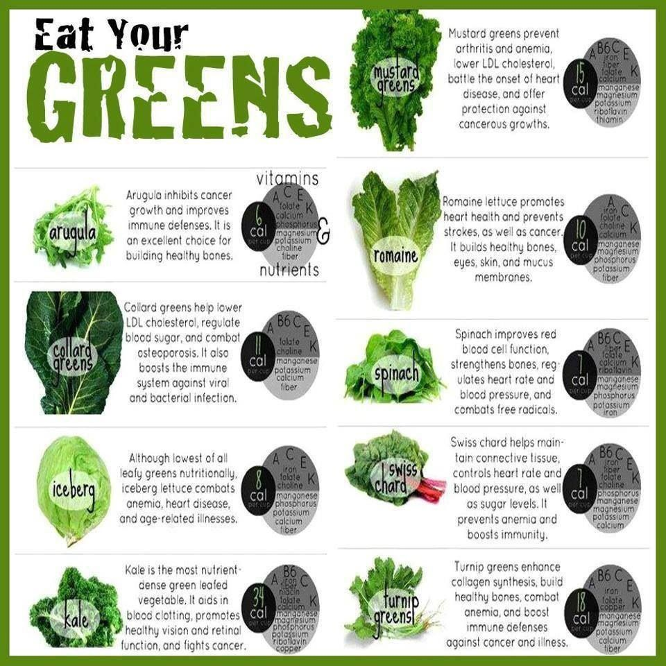 Green Nutrition Chart Lettuce Vegetables Health And Nutrition Bodybuilding Diet Eat