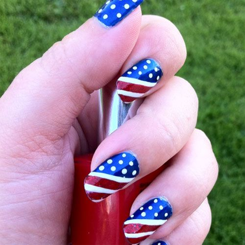 15 Inspiring Fourth Of July American Flag Nail Designs Ideas 4th Of July 2013 5 July Nails American Flag Nails 4th Of July Nails