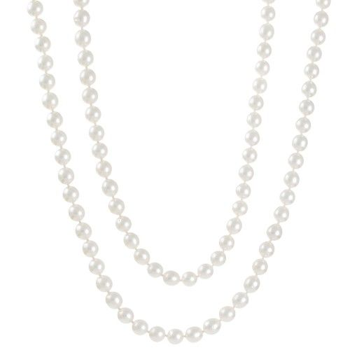 A slightly graduated long strand of drop shaped white south sea pearls measuring 8mm - 9mm with a good lustre and some natural surface marks. #WhiteSouthSeaPearlJewellery #RutherfordJewellery #Melbourne
