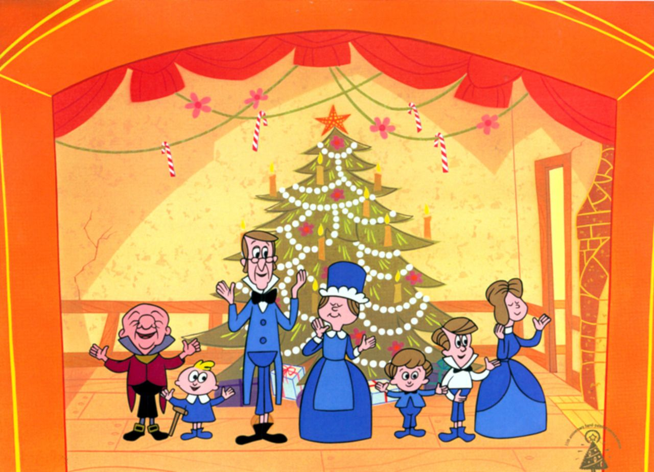 Curtain call for the cast of MISTER MAGOO'S CHRISTMAS