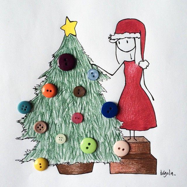 He who han not Christmas in god heart will never find it under a tree  Chi non ha il Natale nel suo cuore, non lo troverà mai sotto un albero.  E voi avete già iniziato a farlo? #virginiasdraws