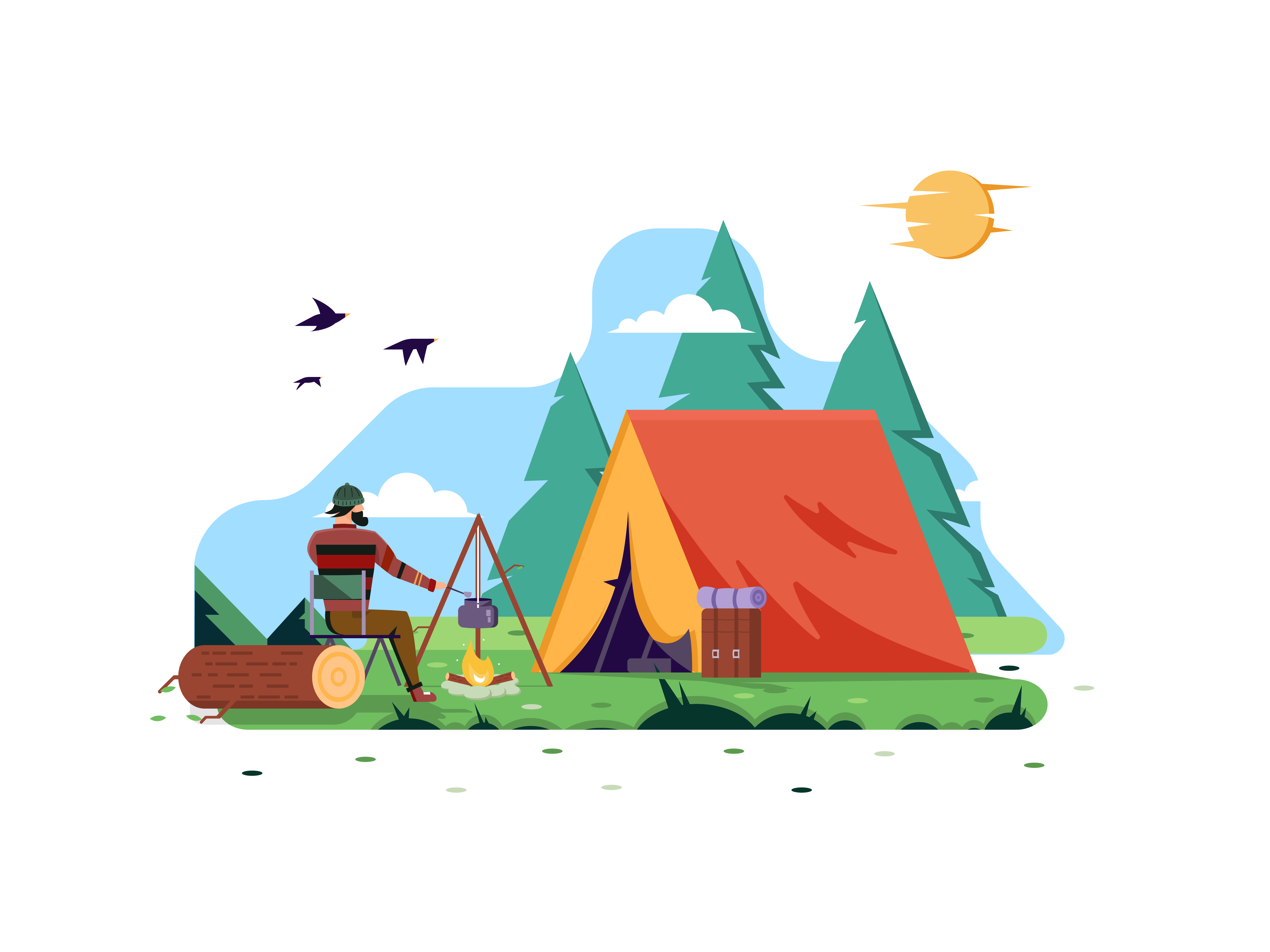 A Camp In The Forest
