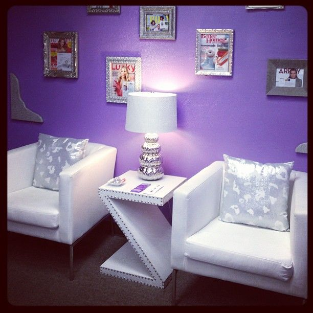 Love this purple office space!