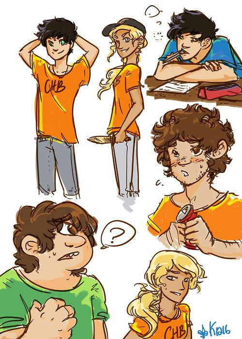 Percy, Annabeth, Grover, and Tyson