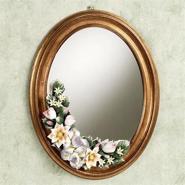 Leanna Floral Wall Mirror Gold