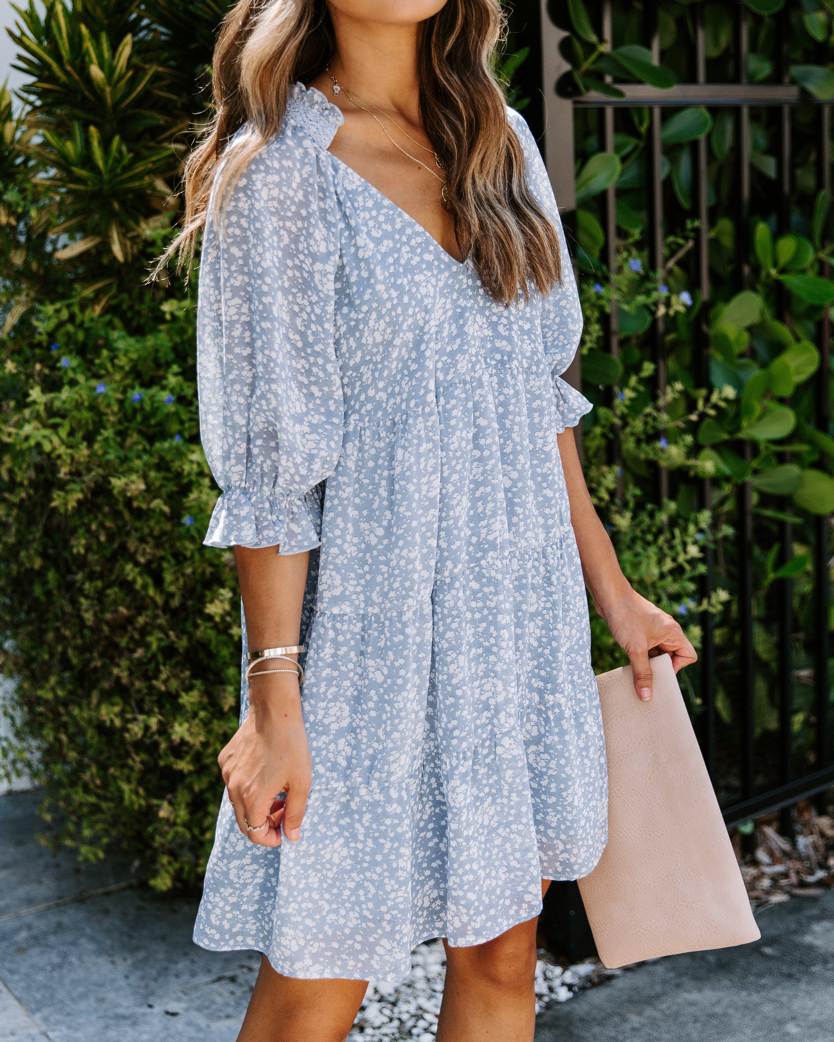 Rhonda Printed Tiered Dress Vici Tiered Dress Casual White Dress Dresses Casual Boho [ 4001 x 3201 Pixel ]