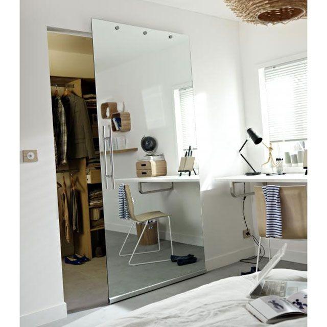 avec poign e the artist 39 s den porte coulissante miroir. Black Bedroom Furniture Sets. Home Design Ideas