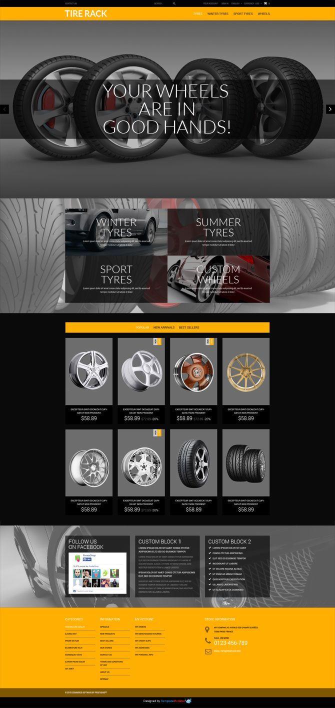 Free Wheels Tires Presta Template Http Www Templatemonster