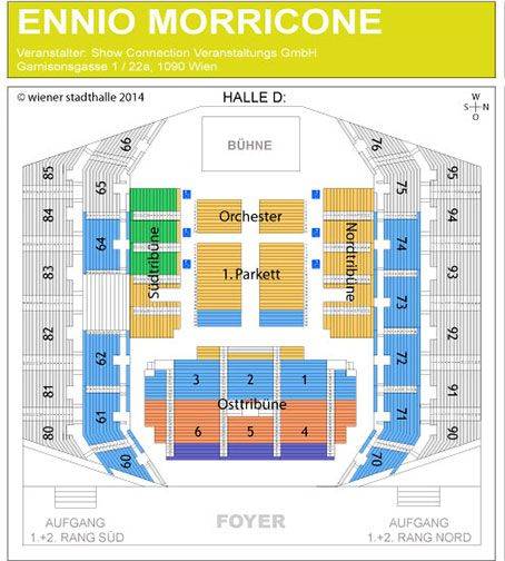 Ennio Morricone Quot Die 60 Jahre Musik Tour Quot Konzert Wien