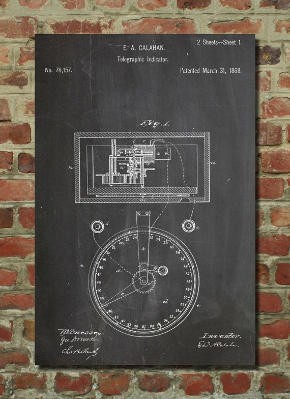 Stock Telegraphic Ticker 1868 Patent Poster Stock By Patentprints