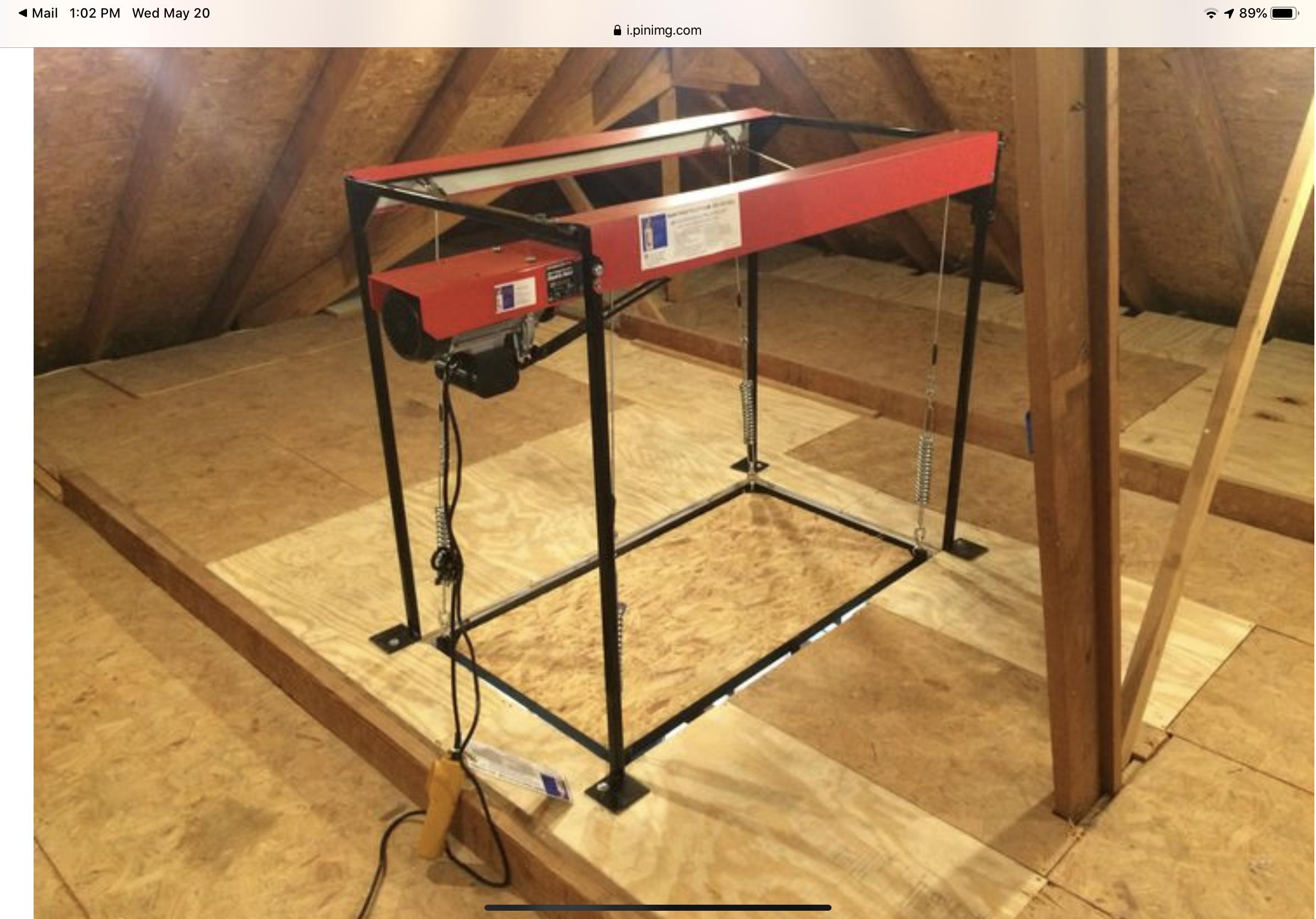 Pin by Darla WhippleFrain on Garage Loft Lift in 2020