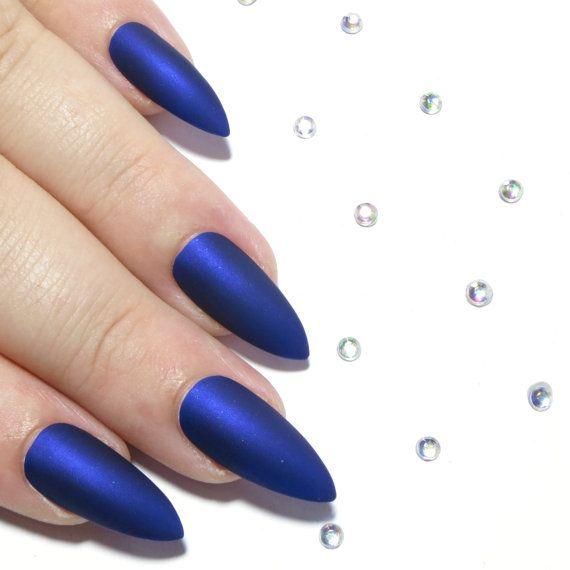 Pointy Nails - Matte Press On Nails - Fake Nails - Acrylic Nails ...