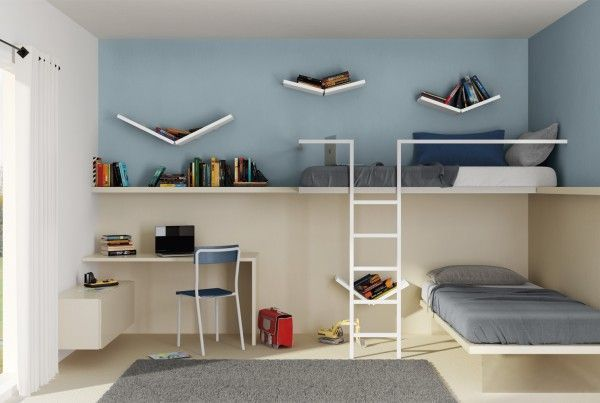 Bunk beds erkant habitaciones con literas dormitorios for Design delle camere dei bambini
