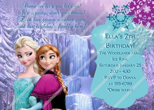 frozen personalized invitations frozen themed party custom
