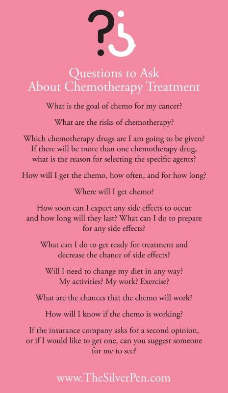 Questions to Ask Your Doctor Before Chemotherapy. #breastcancer #silverlining